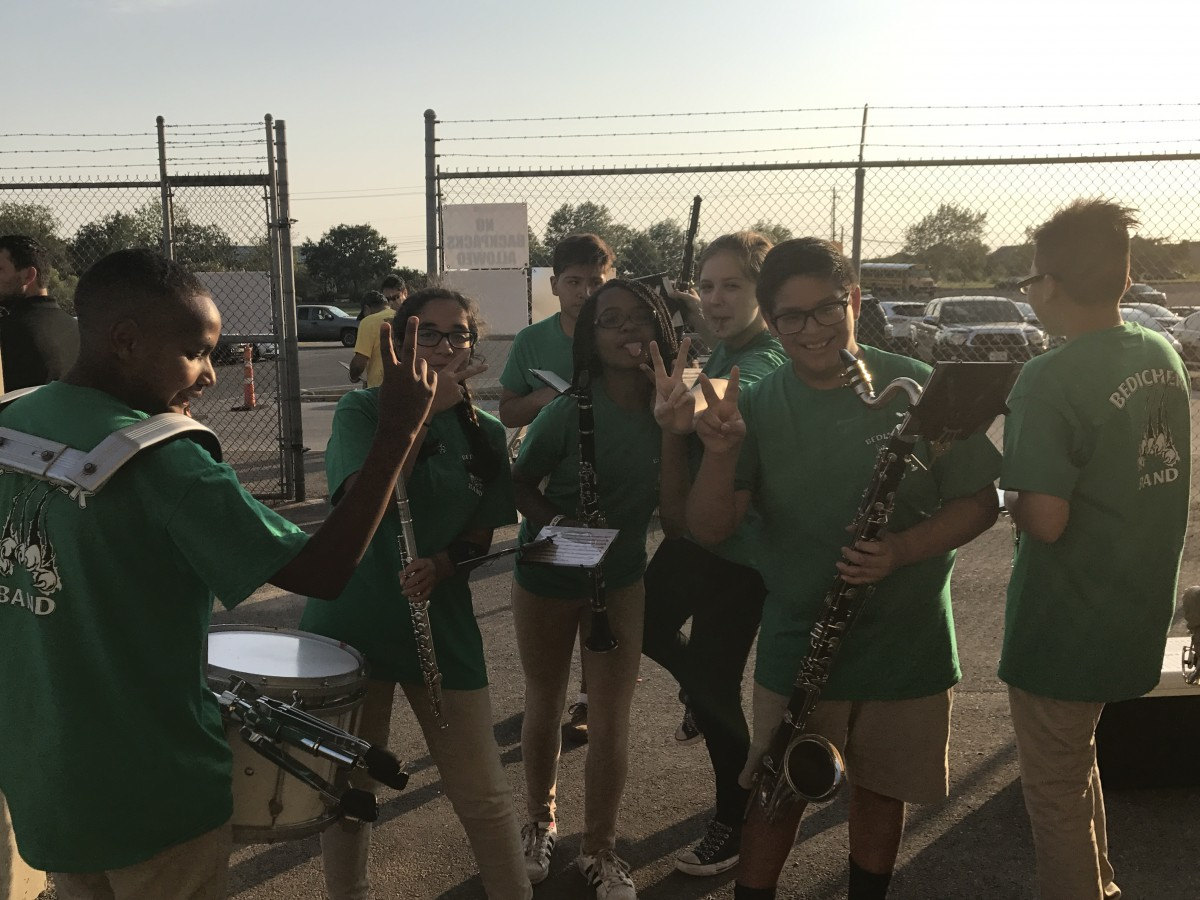 Band at football game