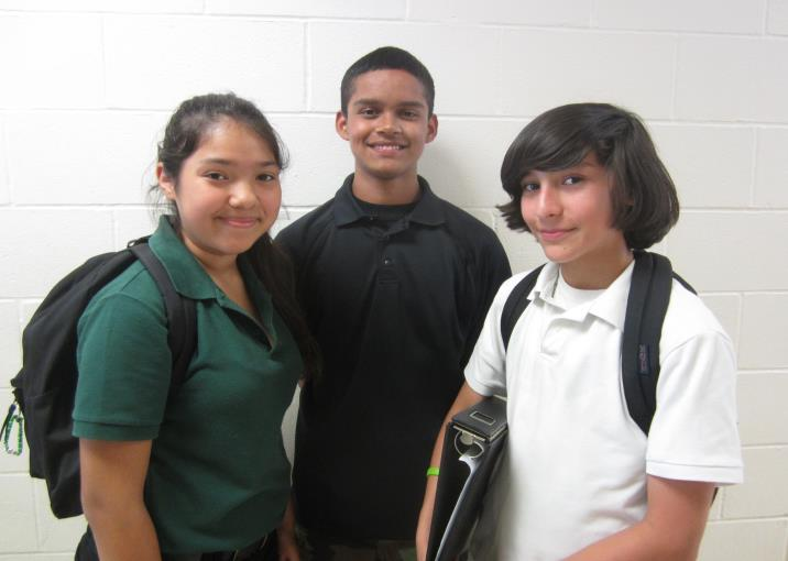 Three students photo